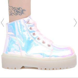 YRU Slayr Atlantis Holographic Platform Shoes